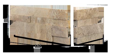 Stone veneer - Aksent 3D Beige Marble Corner