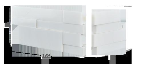 Stone veneer - Aksent 3D White Marble Corner