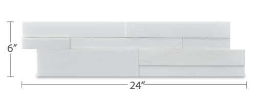 Stone veneer - Aksent 3D White Marble Panel