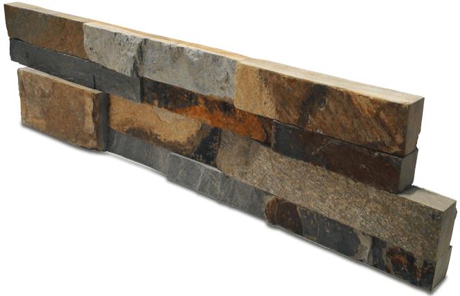 Staxstone - Norstone Natural Stone Veneer - XL Rock Panel Ochre Panel