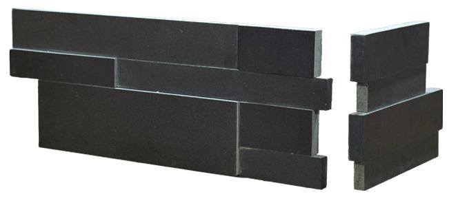 Stone veneer - Aksent 3D Ebony Basalt Corner Unit