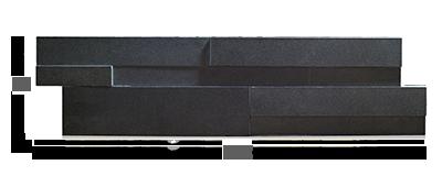 Stone veneer - Aksent 3D Ebony Basalt Panel