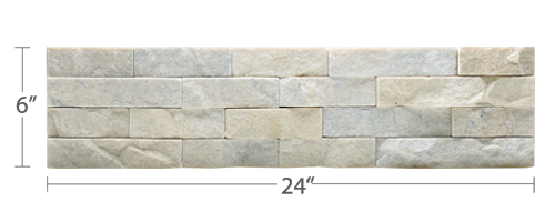 Staxstone Natural Stone Veneer - Rock Panel Ivory Quartz Panel
