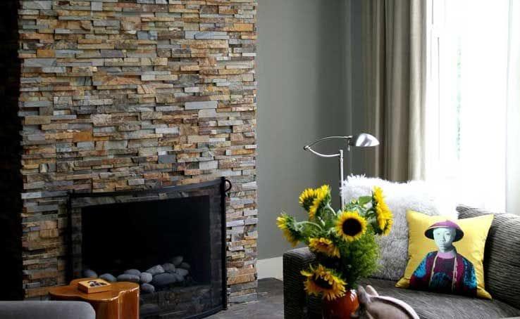 Staxstone Natural Stone Veneer - Fireplace
