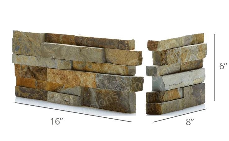 Staxstone Natural Stone Veneer - Ochre Corner