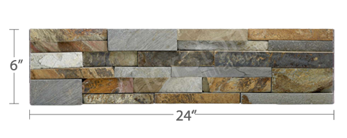 Staxstone Natural Stone Veneer - Rock Panel Ochre Panel