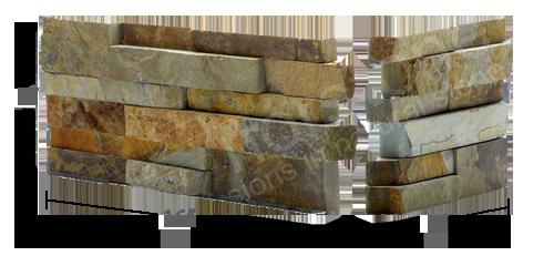 Staxstone Natural Stone Veneer - Rock Panel Ochre Corner