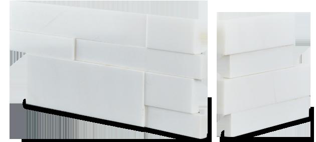 Stone veneer - Aksent 3D White Marble Corner Unit
