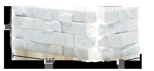 Staxstone Natural Stone Veneer - Rock Panel White Quartz Corner
