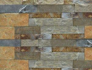 Ochre rock panel stone veneer sample