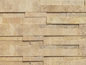 Aksent 3d Beige Rock Panel Stone Veneer Sample