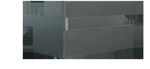 Staxstone - Norstone Natural Stone Veneer - Planc Grey Basalt Corner