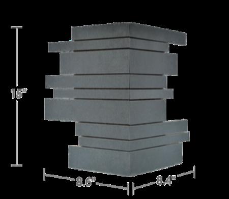 Staxstone Natural Stone Veneer - Lynia IL Tile Mosaic Grey Basalt Corner