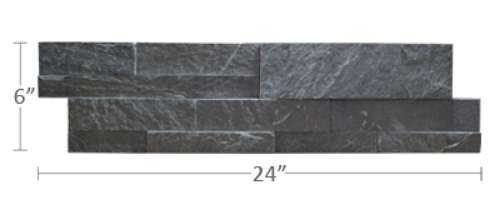 Staxstone - Norstone Natural Stone Veneer - XL Rock Panel Charcoal Panel