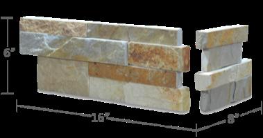 Staxstone - Norstone Natural Stone Veneer - XL Rock Panel Aztec Corner