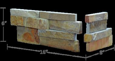 Staxstone - Norstone Natural Stone Veneer - XL Rock Panel Ochre Corner