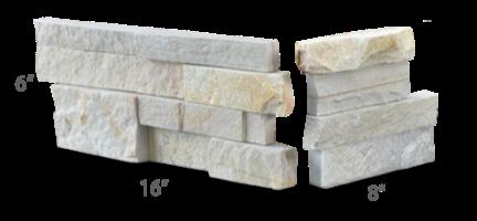 Staxstone - Norstone Natural Stone Veneer - XL Rock Panel Pearl Corner