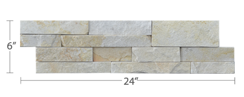 Staxstone - Norstone Natural Stone Veneer - XL Rock Panel Pearl Panel