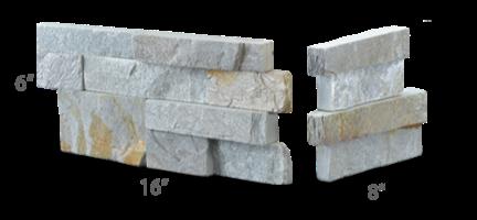 Staxstone - Norstone Natural Stone Veneer - XL Rock Panel Sierra Corner