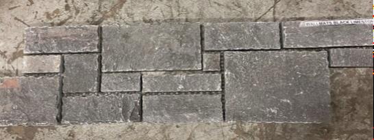 Wallmats Black Sandstone