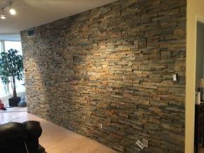 feature wall ochre rock panel