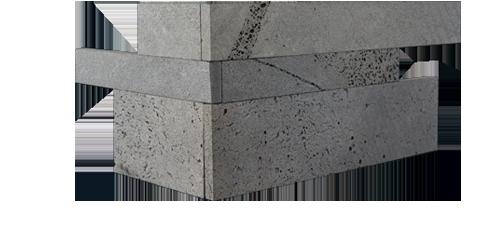 Staxstone - Norstone Natural Stone Veneer - Planc Platinum Lavastone Corners