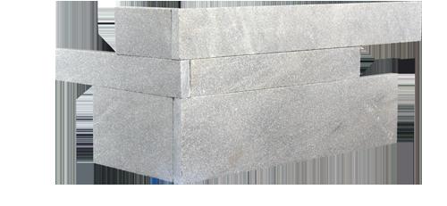 Staxstone - Norstone Natural Stone Veneer - Planc Silver Grey Quartz Corner