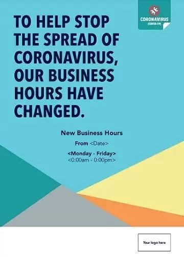 Corona Virus Change of Business Hours