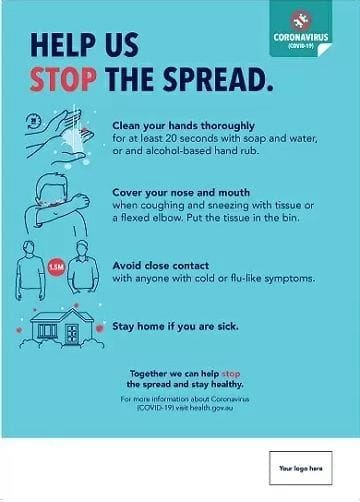 Coronavirus Poster - Help Stop the Spread