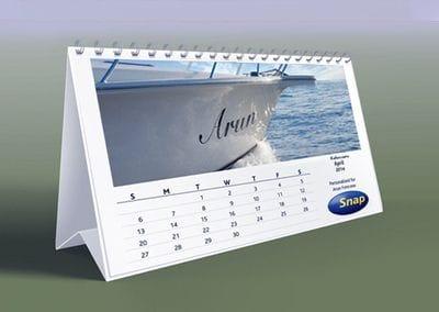 Personalised desktop calendars from Snap