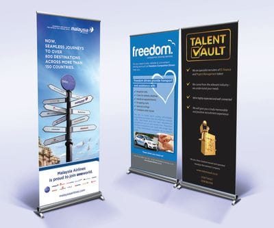 Pull up banners and mobile advertising in Auckland