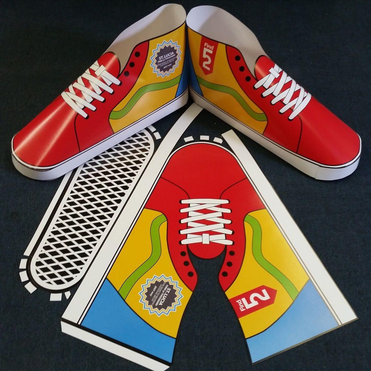 DIe Cut Promotional Piece | Charity Die Cut Shoe | Graphics Production Group