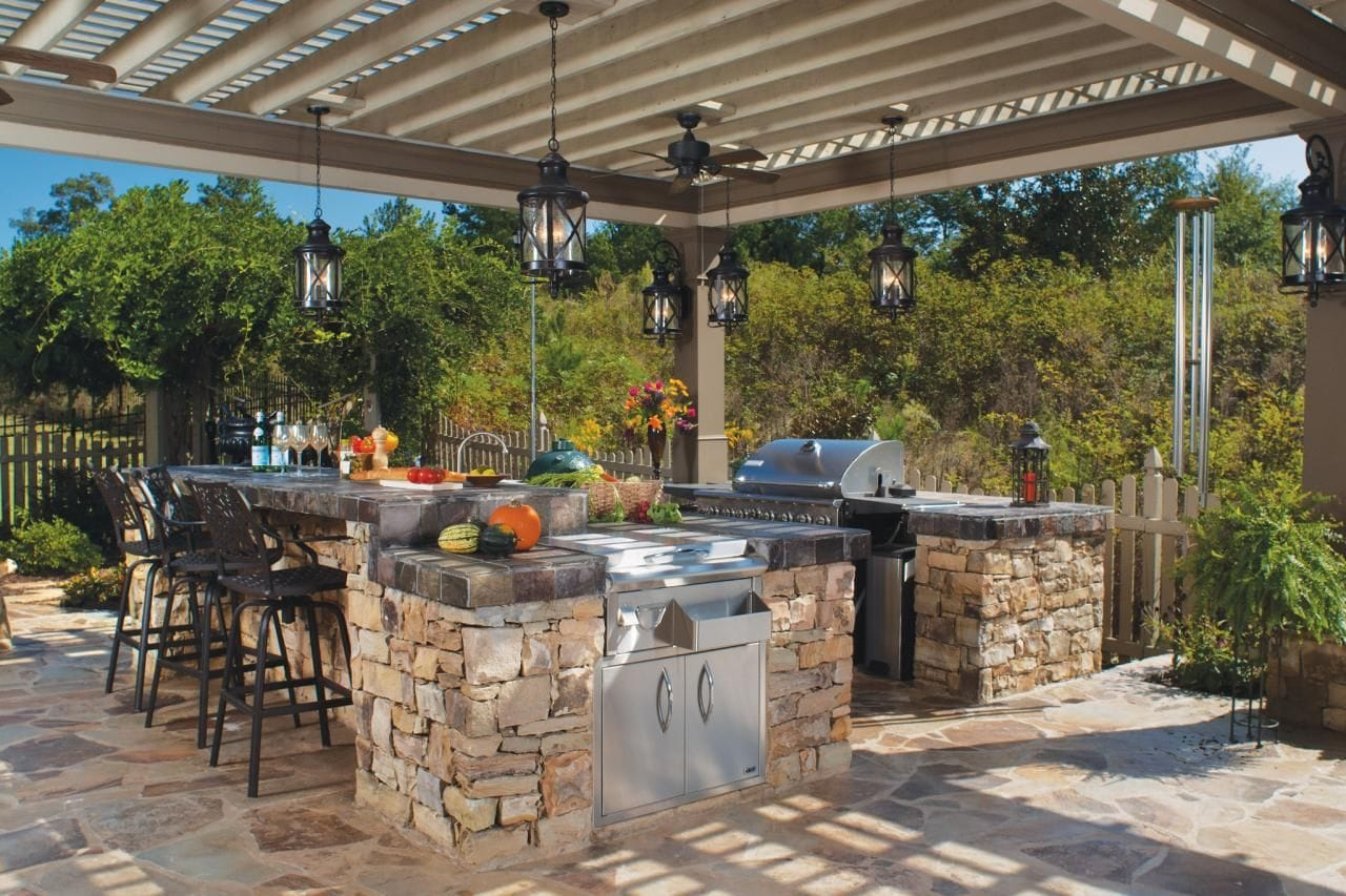 All-in-One Outdoor Kitchen + Pergola  | Trimatrix Construction Inc.