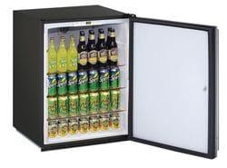 "Solid Refrigerator 24"" Lock Reversible Hinge Stainless 115v"