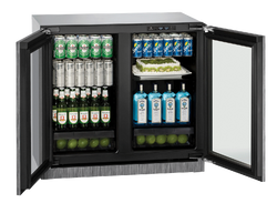 "Glass Refrigerator 36"" Integrated 115v"
