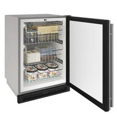 "Outdoor Freezer 24"" Reversible Hinge Stainless 115v"