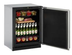 "Solid Refrigerator  24""  Reversible Hinge Stainless 115v"