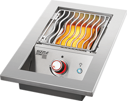 BUILT-IN 700 SERIES SINGLE INFRARED BURNER with Stainless Steel Cover