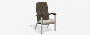 SPE Companion-4201H High Back Chair w Wood Arms