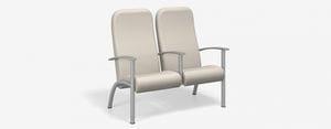SPE Companion-4212H-Two Seater High Back w Metal Arms