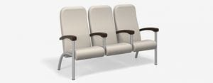 SPE Companion-4213H-Three Seater High Back w Int. Wood Arms