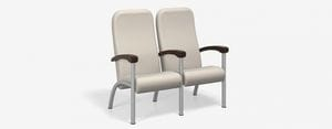 SPE Companion-4222H-Two Seater High Back w Wood Arms