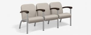 SPE Companion-4223M Three Seater w Wood Arms