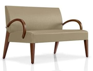 A1200 Wood Arm Loveseat -36