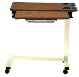 HCF 4950HU Split Top Overbed table with Gas Lift