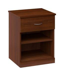 Spartan 1 Drawer - Shelf Bedside Table -40