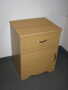 Spartan 1 Drawer-1 Door Bedside Table  (Scalloped Kick) -40