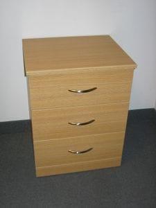 Spartan 3 Drawer Bedside Table (Flat Kick) -40