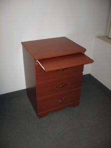 Retro 3 Drawer Bedside Table with Posting Shelf -40