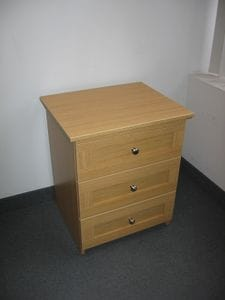 Esteem 3 Drawer Bedside Table -40